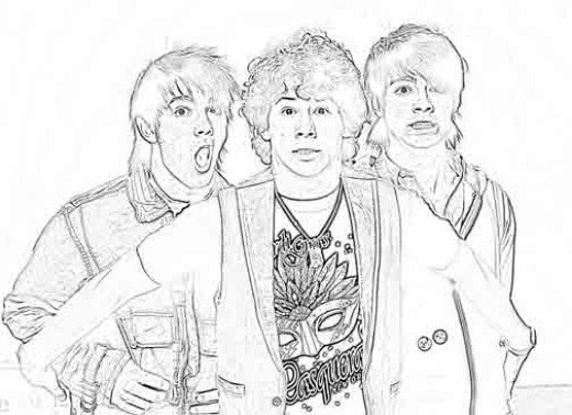 jonas brothers printable coloring pages - photo#24