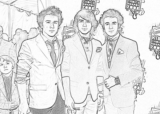 jonas brothers printable coloring pages - photo#13