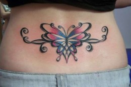 Celtic Butterfly Tattoo on Lower Back