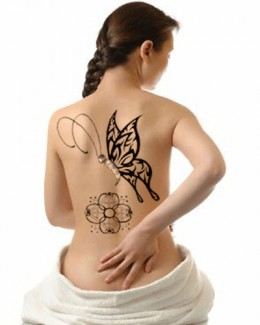 Butterfly Tattoo on Back Canvas