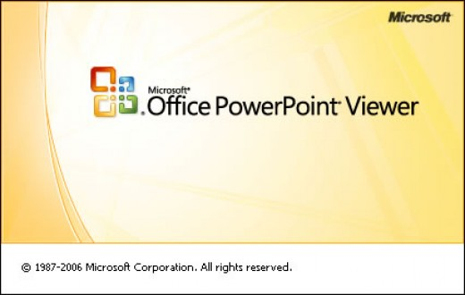 PowerPoint Viewer (a free software from Microsoft Corporation)