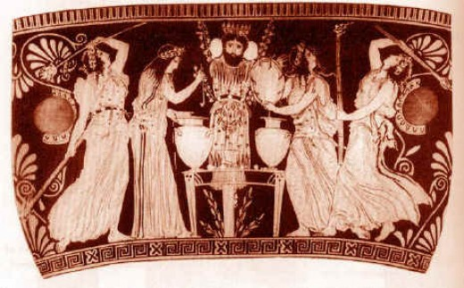 Ancient Urn depicting the crucifixion of Dionysus.