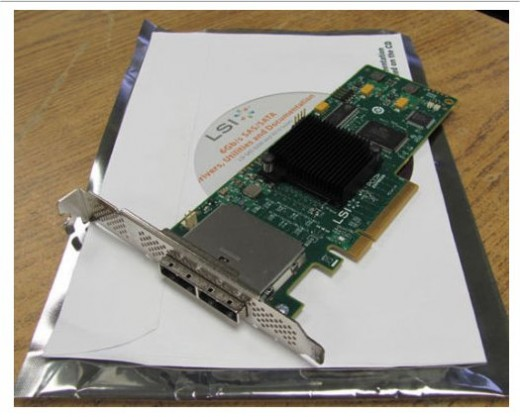 LSI 6Gb/s SAS PCIe2 x8 Host Bus Adapter HBA 9210-8e