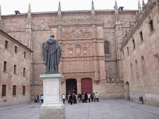 The University of Salamanca in Salamanca, Spain, founded in 1218.