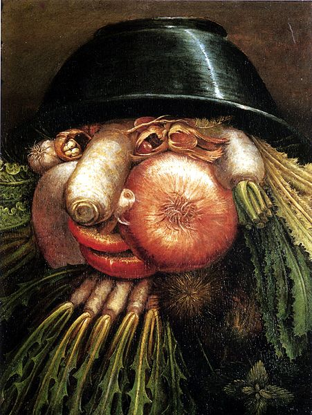 Portrait with Vegetables (The Greengrocer). By Artist: Giuseppe Arcimboldo