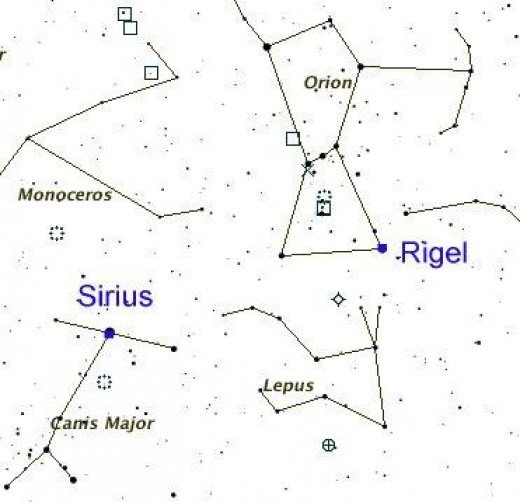 This simple map can guide you to the location of Sirius in relation to the other stars and constellations. Though Sirius is still regarded as important due to its visibility, its relationship to the year has changed over the ages.