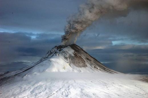 Augustine Volcano in Alaska