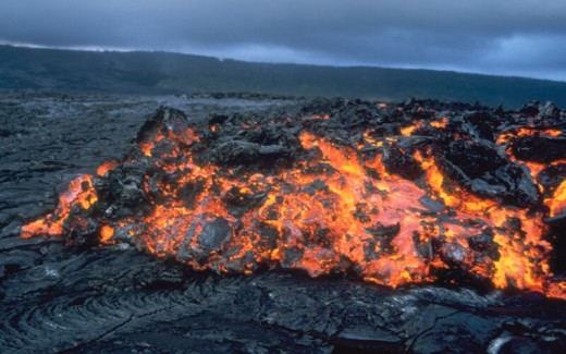 A lava flow in Hawaii