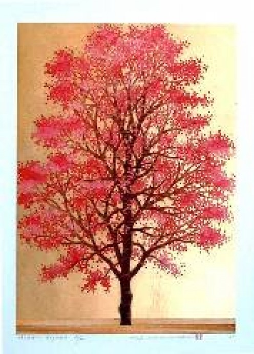 Love leaves in graceful tones.