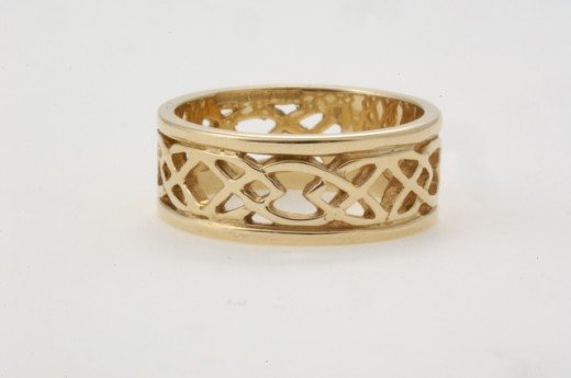 14k openwork infinity kot wedding ring from a selection at Seoda Si Celtic Jewelry