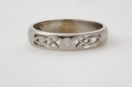 14K white Gold weding ring form SeodaSi Celtic jewelry .com