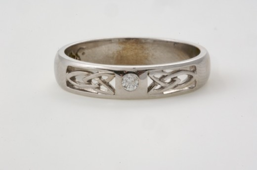 14K white Gold weding ring form SeodaSi Celtic jewelry .com