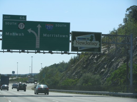 Entering New Jersey