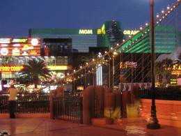 A view of the Strip from inside the Sporting House Bar & Grill.