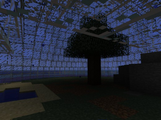 An underwater Minecraft survival map.