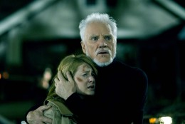 Laurie Strode (Scout Taylor-Compton) and Dr. Loomis (Malcolm McDowell) in Rob Zombie's remake