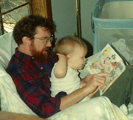 My baby daughter loved reading with her father and me.  She looked forward to it starting at just 2 weeks of age!