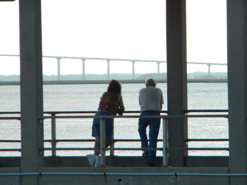 Enjoying the wonderful views is an added perk for non-anglers on the pier.