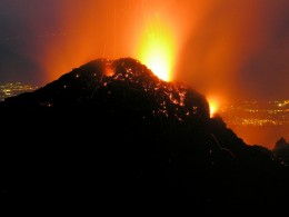 Mount Etna is an active stratovolcano on the east coast of Sicily, close to Messina and Catania. It is the tallest active volcano in Europe, currently standing 3,329 m (10,922 ft) high, though this varies with summit eruptions; the mountain is 21 m (