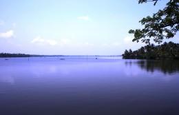 Lagoon near Cherai Beach, Kerala Backwaters