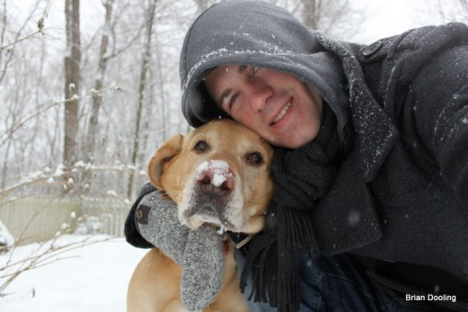Marley and myself in the snow