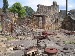 Wreckage left behind, Oradour-sur-Glane, France