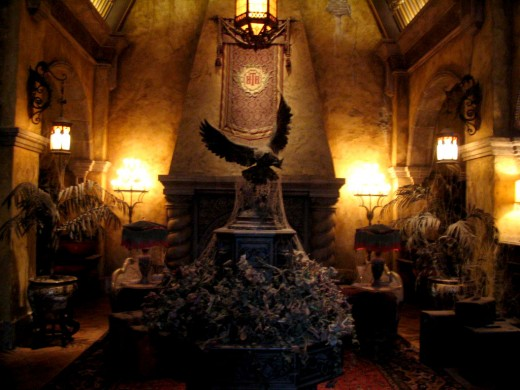 Inside the lobby of the Hollywood Tower Hotel