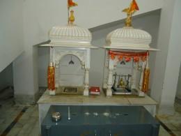 The renovated birth room where Lord Mahaveera was born in 575 B.C.(Kundalapura)