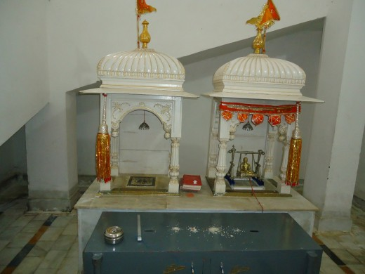 The renovated birth room where Lord Mahaveera was born in 575 B.C.(Kundalapura)