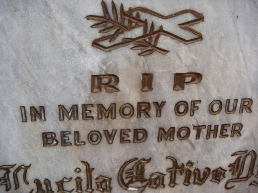 Lucila:  My Mother's Mother, May You Rest in Peace