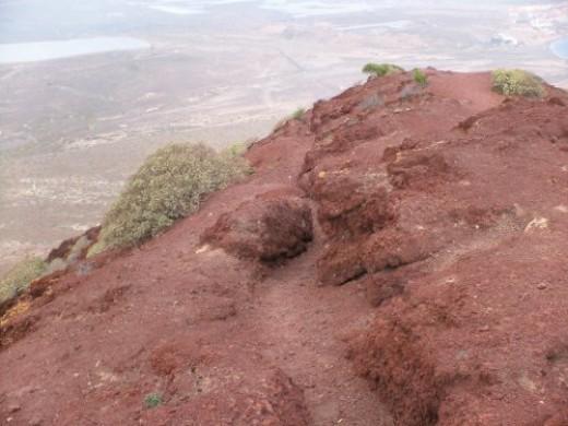 Peak of the Montana Roja or Red Mountain