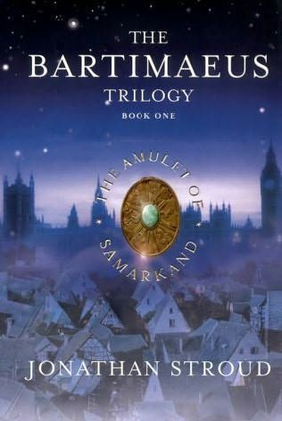 The Bartimaeus Trilogy (book 1: The Amulet of Samarkand) by Jonathan Stroud. You'll be laughing at Bartimaeus's witty sense of humor, and completely enthralled with the struggles and triumps of Nathaniel and Kitty.