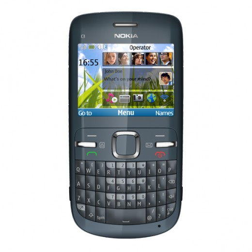 The Nokia C3-00 in Slate Grey/Graphite