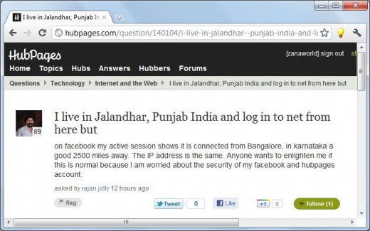 Rajanji has asked a question on how to add location in the FaceBook