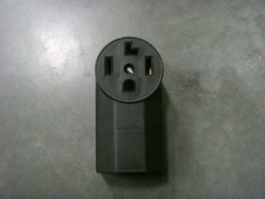 Stove plug adapter 4 to 3 prong