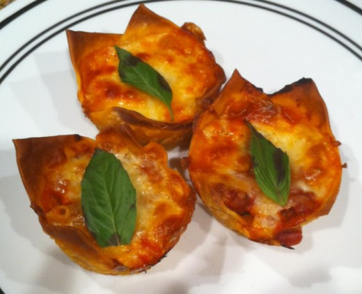 Lasagna cupcakes are original, fun and delicious!  You will never have to fight over the edges again.
