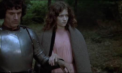 Twelve year old Guinevere and her love, the aging Lancelot with a bad dye job. It looks way worse in hi-def.