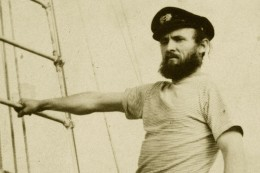 My Dad on the rigging of his sailboat in the 1970s. He loved that captain's hat almost as much as his Scottish Balmoral.