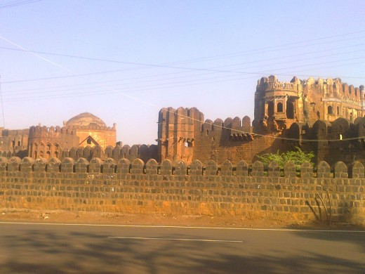 Bidar Fort,viewed frim outside