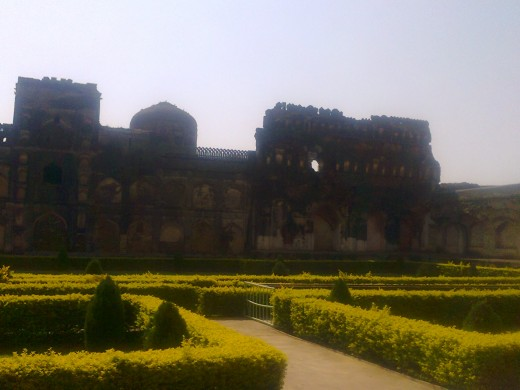 palace and park inside fort,Bidar