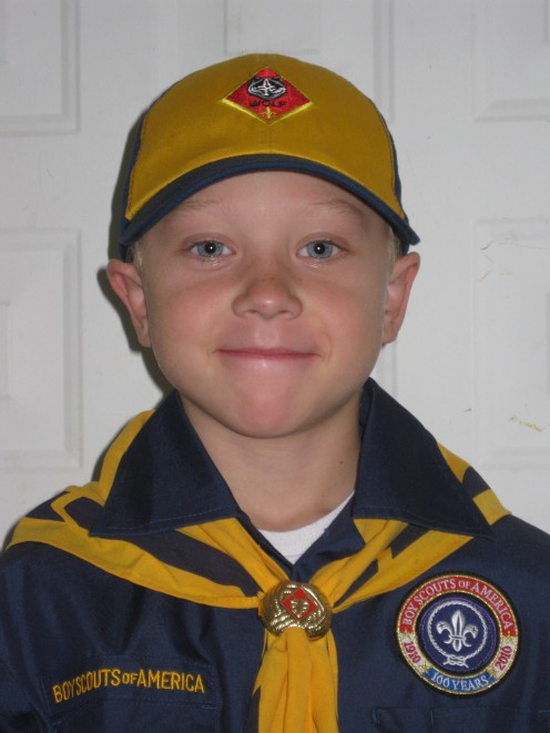 A proud young man in uniform