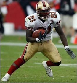 Frank Gore is having a great season this year with 675 yards rushing.