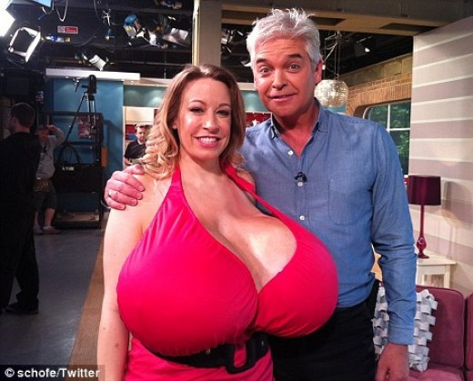 Chelsea Charms claims to have size 153XXX breasts.