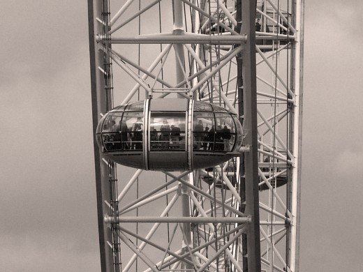 London Eye - Zooming into a capsule