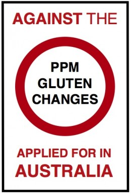 Against the PPM gluten changes in Australia