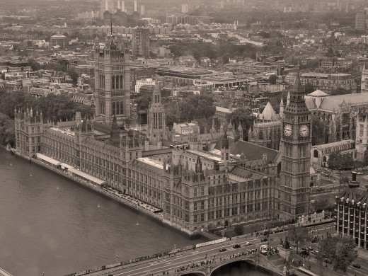 Westminster Palace from the London Eye