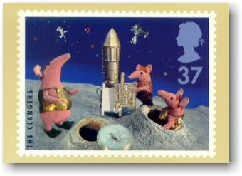 Clangers appear on a British postage stamp