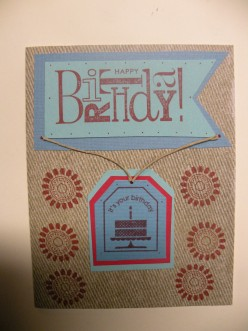 Easy to Make Happy Birthday card with Stamping