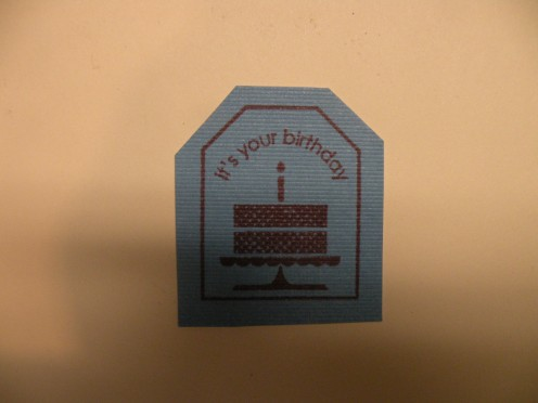 It's Your Birthday stamp
