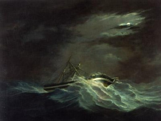 Sir Henry Pottinger in a cyclone ~Joseph Heard  between 1848 and 1859